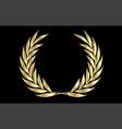 golden laurel wreath vector image vector image