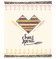 Hand drawn aztec style heart Tribal design vector image vector image