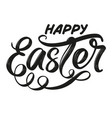 happy easter holiday religious calligraphic text vector image vector image
