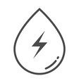 hydropower outline icon element of enviroment vector image vector image