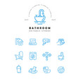 icon and logo of bathroom editable outline vector image