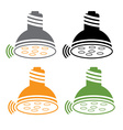 li fi lightbulb set vector image vector image