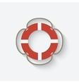 lifebuoy symbol vector image vector image