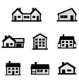 line house icons set on white background vector image vector image