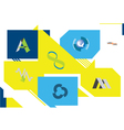 Logo Retro Geometric Background vector image