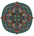 mandala colored oriental decorative flower vector image vector image