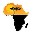 map africa safari sunset savanna acacia tree