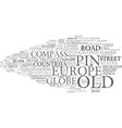 map word cloud concept vector image vector image