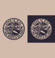 monochrome motorcycle round emblem vector image vector image