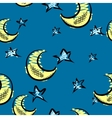 Moon And Stars Background vector image vector image