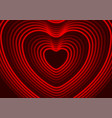 neon glowing laser heart shape abstract background vector image