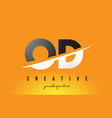od o d letter modern logo design with yellow vector image vector image
