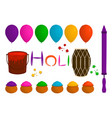 on theme big set different types colorful balloons vector image vector image