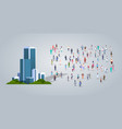people group near modern office business center vector image vector image