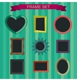 Photo frames in flat style vector image vector image