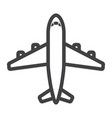 plane line icon transport and air vehicle vector image