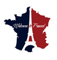 poster welcome to france vector image vector image