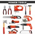 Power Tools Red Black Pictograms Collection vector image vector image