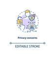 privacy concerns concept icon vector image vector image