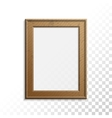 Realistic wooden photo frame vector image vector image
