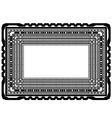 Rectangular Decorative Frame vector image vector image