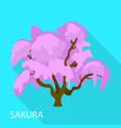 sakura icon flat style vector image vector image