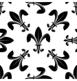 Seamless fleur de lys pattern in black and white vector image vector image