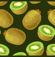 seamless kiwi fruits vector image