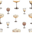 seamless pattern with new year drinks vector image vector image