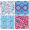 Set of four abstract geometric backgrounds vector image vector image