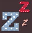 set stitched font - letter z vector image vector image
