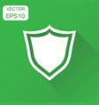 shield defence icon business concept guard vector image