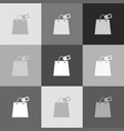 shopping bag sign with tag grayscale vector image vector image