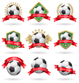 Soccer labels set vector image vector image