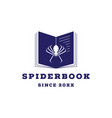 spider book logo icon vector image