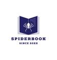 spider book logo icon vector image vector image