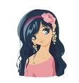 sweet cute girls vector image
