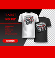 t-shirt template fully editable with motocross vector image