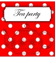Tea party background vector image vector image
