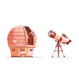 telescope on tripod astronomy observatory vector image