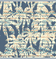 tribal ethnic seamless pattern with palm tree vector image
