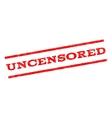 Uncensored Watermark Stamp vector image