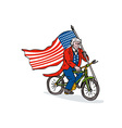 Uncle Sam Riding Bike vector image vector image