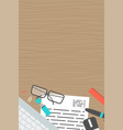 vertical banner collection concept office top view vector image vector image