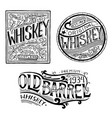 vintage american whiskey badge alcoholic label vector image vector image