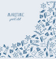 vintage maritime design background vector image