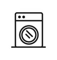 washing machine appliance icon on white background vector image