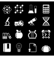 White Education Icons Vol 2 vector image vector image