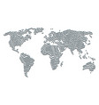 worldwide atlas pattern of gentleman pray items vector image vector image