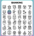banking concept icons vector image